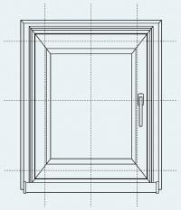 Рулонные шторы Стандарт NEW. Замер