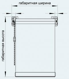 Рулонные шторы Mini. Замер