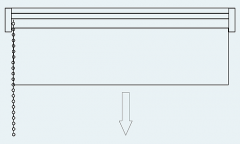 Рулонные шторы Mini. Управление