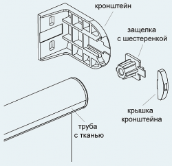 Рулонные шторы Mini. Монтаж рулонных штор D-25