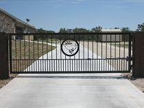 Распашные однстворчатые ворота, ковка