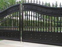 Распашные ворота, ковка
